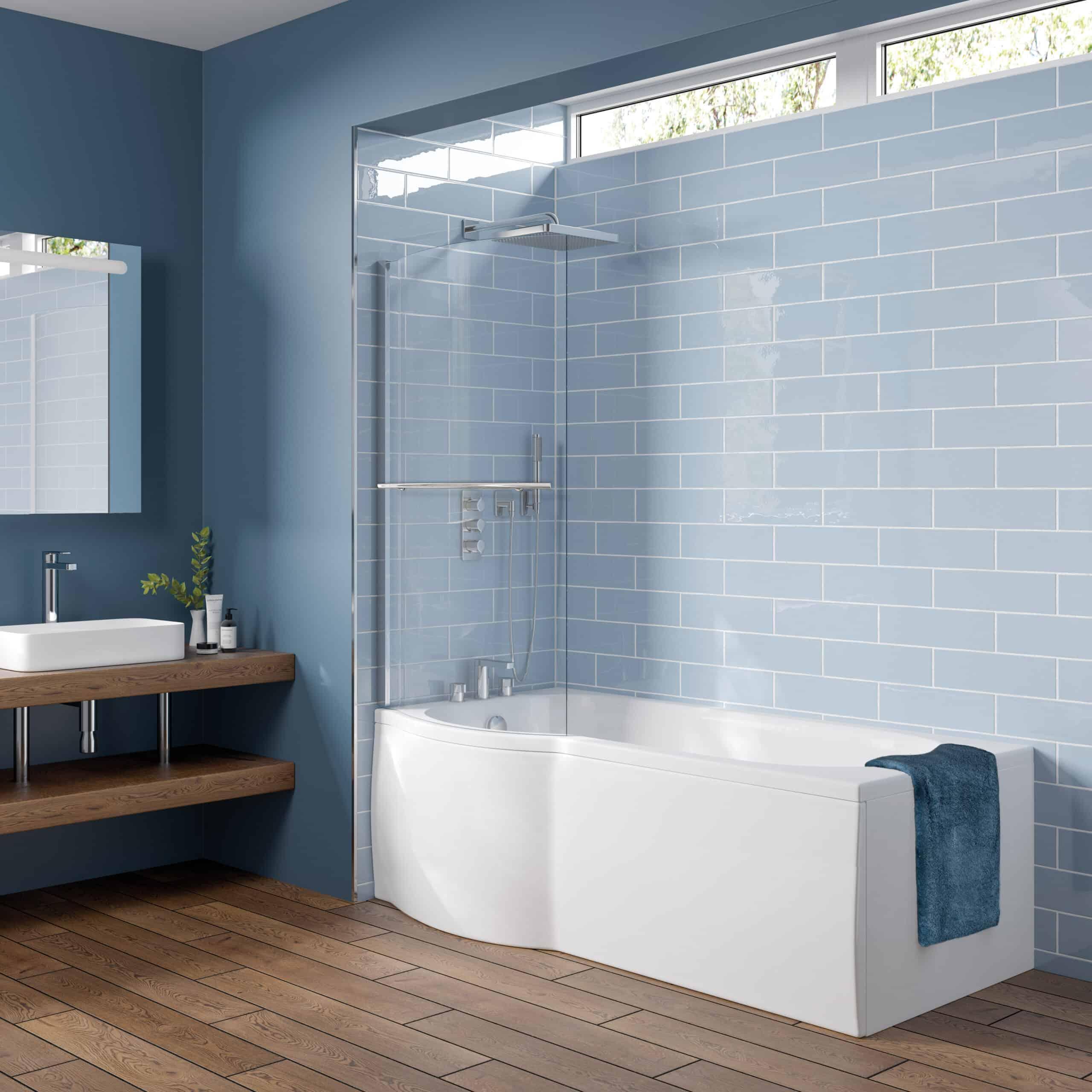Trojan Concert P-Shaped Shower Bath