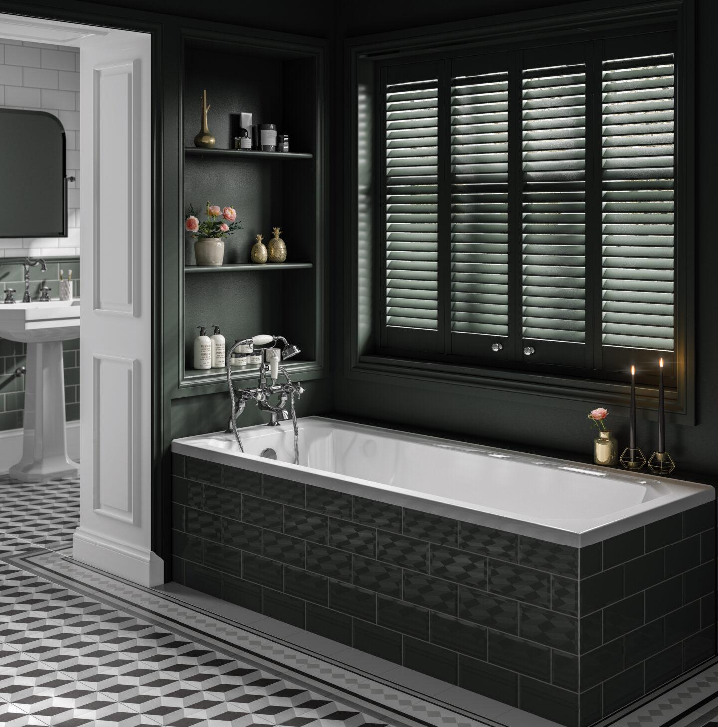 Trojan's Art Deco Single Ended Bath